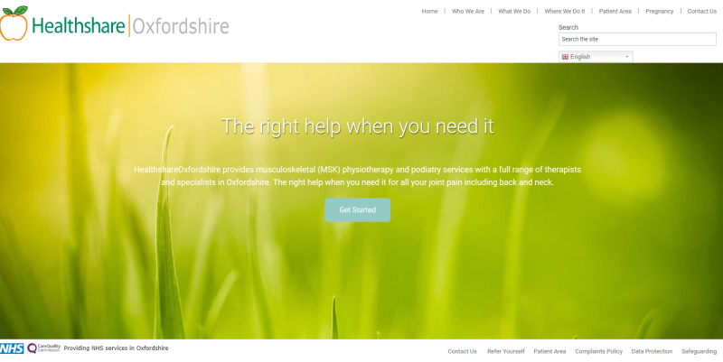 Healthshare Home Page